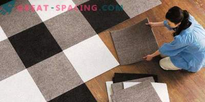 Carpet tiles: features and advantages of the material