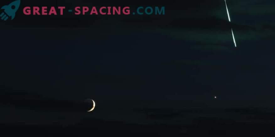 Снимки на космоса: Огнено кълбо на фона на Венера