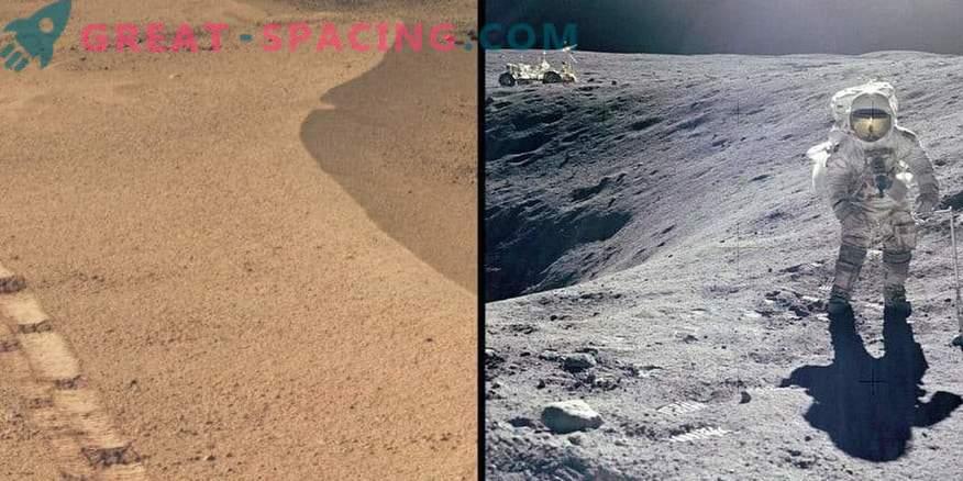Marsi kraater meenutab Apollo Lunari saiti.