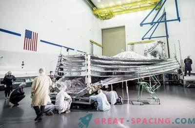 Solig sida upp: James Webb teleskopets solskyddslista testas