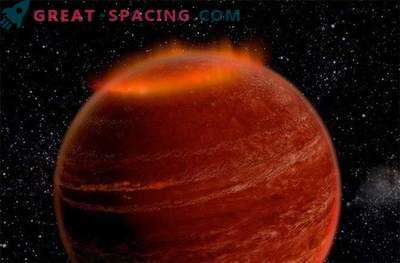Utanför vårt solsystem upptäcktes en stor aurora