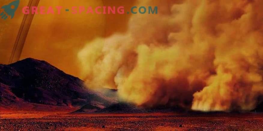 För första gången registreras dammstormer på Titan