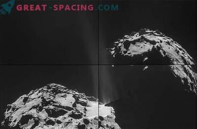 Rosetta såg strömmar av ånga flyr från ytan av kometen Churyumov-Gerasimenko