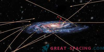 Flera främmande stjärnor försöker bryta igenom till Vintergatan