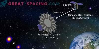 Konstgjord förmörkelse för att visa exoplanet